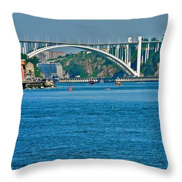 Beautiful Bridge In Porto Throw Pillow by Kirsten Giving