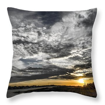 Throw Pillow featuring the photograph Beautiful Days End by Shannon Harrington