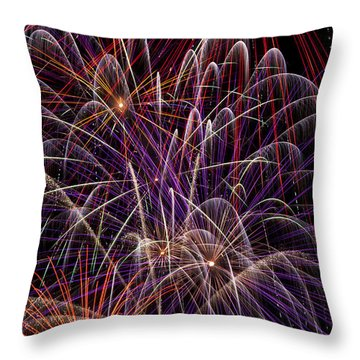 Beautiful Fireworks Throw Pillow by Garry Gay