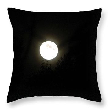 Throw Pillow featuring the photograph Beautiful Full Moon by Ester  Rogers