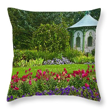 Throw Pillow featuring the photograph Beautiful Garden by Cindy Haggerty