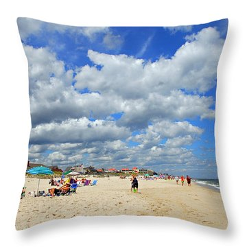 Beautiful Jersey Shore Throw Pillow