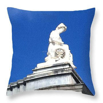Beautiful Lady In White Throw Pillow by Sonali Gangane
