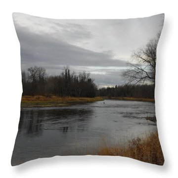 Beautiful November Morning Throw Pillow by Kent Lorentzen