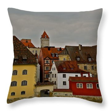 Beautiful Regensburg Throw Pillow by Kirsten Giving