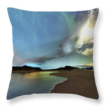 Beautiful Skies Shine Down On This Throw Pillow by Corey Ford