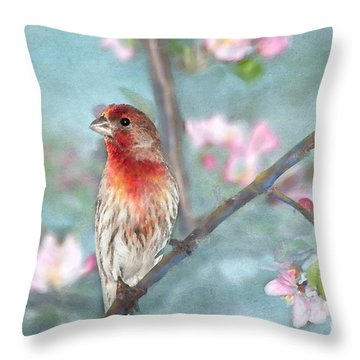 Beautiful Spring Throw Pillow by Betty LaRue