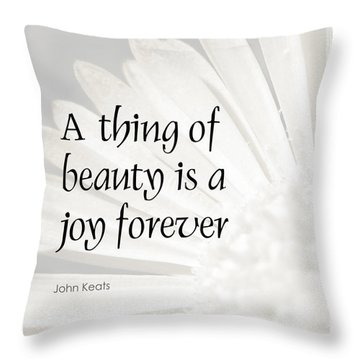 A Thing Of Beauty Quote Throw Pillow