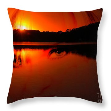 Throw Pillow featuring the photograph Beauty Looks Back by Clayton Bruster
