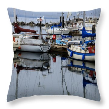 Beauty Of Boats Throw Pillow by Bob Christopher