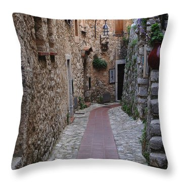 Beauty Of Eze France Throw Pillow by Bob Christopher