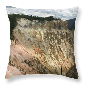 Throw Pillow featuring the photograph Beauty Of The Grand Canyon In Yellowstone by Living Color Photography Lorraine Lynch
