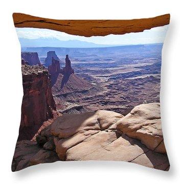 Beauty Through An Arch Throw Pillow