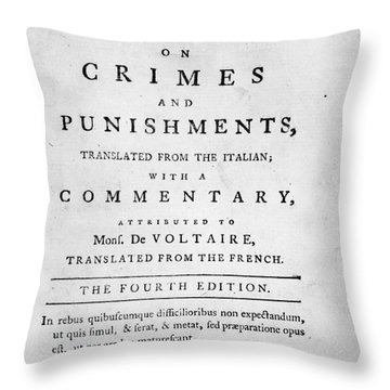 Beccaria: Title Page Throw Pillow by Granger