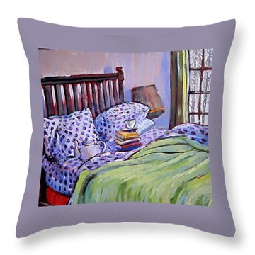 Bed And Books Throw Pillow