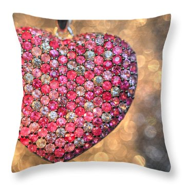 Bedazzle My Heart Throw Pillow