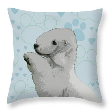 Bedlington Terrier Throw Pillow by One Rude Dawg Orcutt