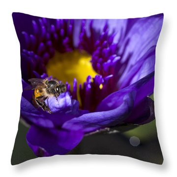Bee Hug Throw Pillow