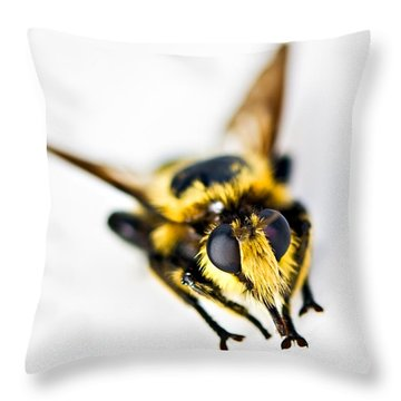 Bee Throw Pillow by Susan Leggett