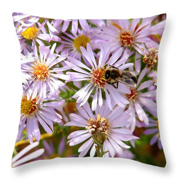 Beeflowers Throw Pillow