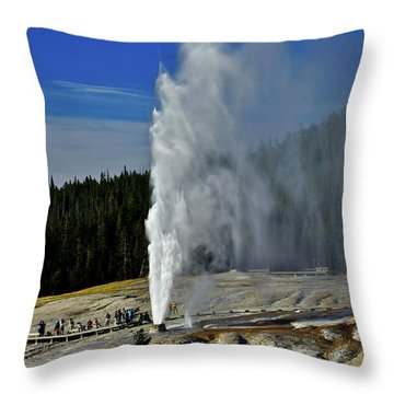 Beehive Geyser Throw Pillow