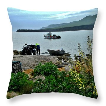 Throw Pillow featuring the photograph Been A Good Day At The Sea by Katy Mei