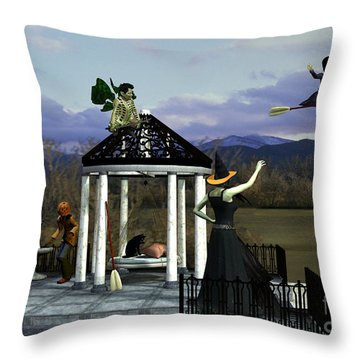 Before Dorothy Came To Oz Throw Pillow by Methune Hively