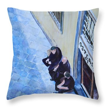 Before The Dinner Rush Throw Pillow by Jenny Armitage