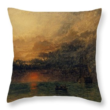 Before The Storm Throw Pillow by Henry Dawson