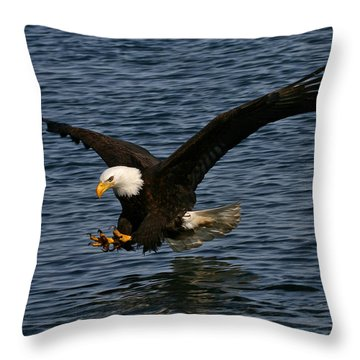 Throw Pillow featuring the photograph Before The Strike by Doug Lloyd
