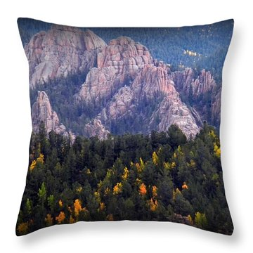 Beginning Of Mountain Fall Throw Pillow