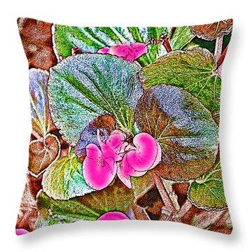 Begonia Throw Pillow by EricaMaxine  Price