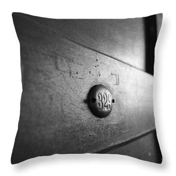Behind Door No. 329 Throw Pillow by Luke Moore