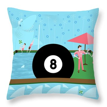 Behind The Eight Ball Throw Pillow