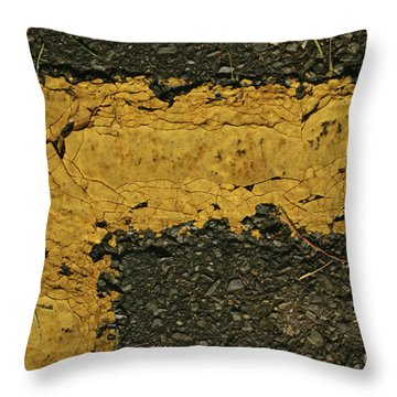 Behind The Yellow Line Throw Pillow