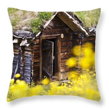 Behind Yellow Flowers Throw Pillow by Heiko Koehrer-Wagner