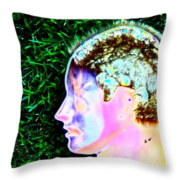 Being Of Light Throw Pillow by Xn Tyler