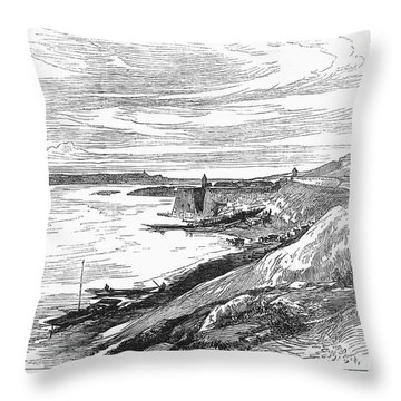 Belgrade: Fortress, 1876 Throw Pillow by Granger