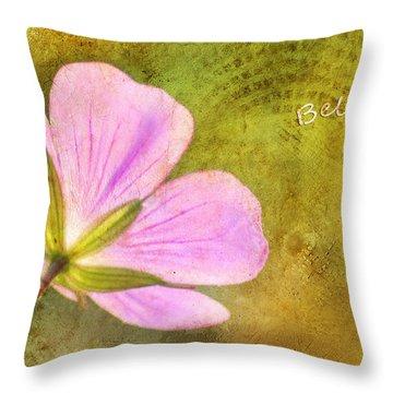 Believe Throw Pillow by Darren Fisher