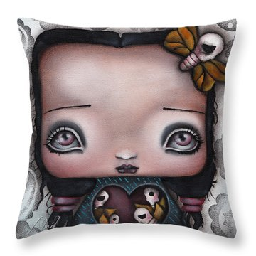 Bella Throw Pillow by  Abril Andrade Griffith