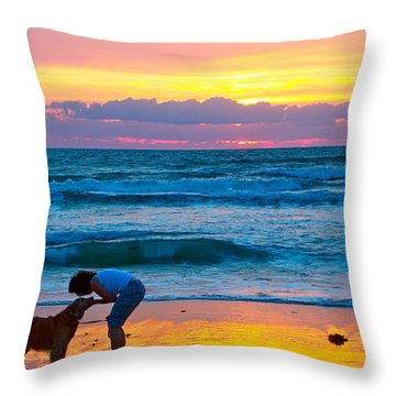 Throw Pillow featuring the photograph Bella At Sunrise by Alice Gipson