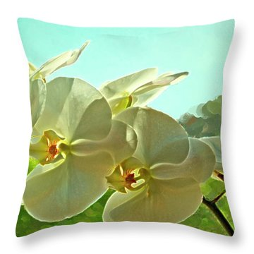 Belleza Blanca Throw Pillow by Gwyn Newcombe