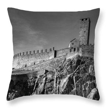 Bellinzona Switzerland Castelgrande Throw Pillow by Joana Kruse