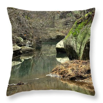 Bellsmith Creek Throw Pillow by Marty Koch