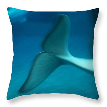 Throw Pillow featuring the photograph Beluga Tail by Peter Mooyman