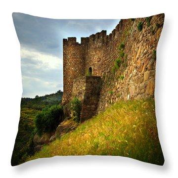 Belver Castle Throw Pillow by Carlos Caetano