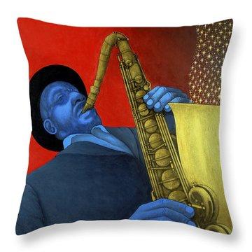 Ben Webster Throw Pillow