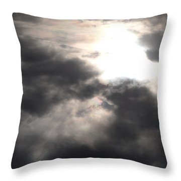 Beneath The Clouds Throw Pillow by James Barnes