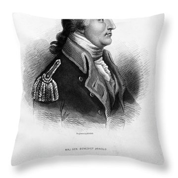 Benedict Arnold, American Traitor Throw Pillow by Omikron