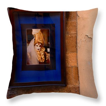 Beniiti In Lucca Throw Pillow by Bob Christopher